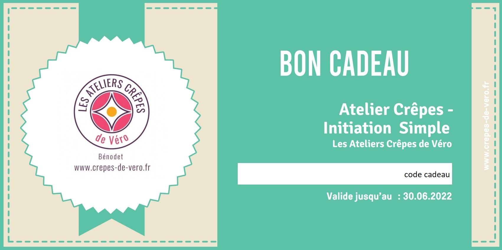 Carte cadeau d'un atelier crepes Initiation simple aux ateliers crepes de vero à benodet en bretagne sud